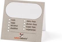"""Buffet / When the question is """"What's in it?"""" Answer with tablelabels™. •Write the name of the dish •Check all items that apply or add your own •Place the label next to the dish and ENJOY!   / by Tablelabels ™"""
