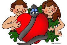 Bijbel: Schepping, Adam en Eva en familie / Bible: creation, Adam & Eve & family / Bijbel: Schepping, Adam en Eva en familie, knutselwerkjes, verwerking, kleurplaten,lessen / Bible: creation, Adam & Eve & family / by Juf Petra