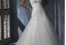Long wedding dress / by Adeline Vasilev
