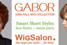 The New Gabor Wig Collection / Gabor Wigs has six new Lace Front & Monofilament Wigs which are very lightweight, comfortable, stylish and best of all the new Lace Fronts make these new Gabor Wigs virtually undetectable / by Wig Salon