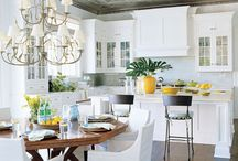 Kitchens ~ White & More / by The Decorated House ♛ Donna