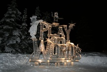 Ice & snow Sculptures / I find these so captivating.  / by Michelle