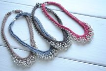 knitting epherma / Jewelry. Bags. Collars. Ephemera. / by Carolann Thompkins