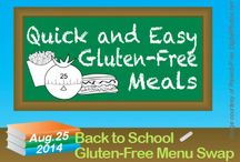 Back to School Gluten-Free / Gluten-Free recipes and meal ideas for families going back to school. Breakfast, Lunch, Snacks, Quick and Easy Dinners / by Heather