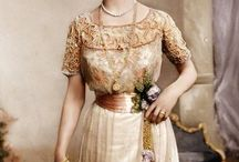 Edwardian (1910-14) - Afternoon/Evening Dress / Afternoon, Tea and Evening Dresses from the Edwardian period. / by Bess Chilver