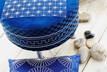 """468 - Sashiko Style November 2013 / Great designs in true sashiko style!   This collection will be perfect for enhancing your home decor and even includes 10 endless designs. When embroidering, use the  creative™ QUILTER'S HOOP 200x200 / 8""""x8"""" or the creative™ ENDLESS HOOP 180x100/7""""x4"""" / by PFAFF®"""