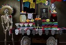 Day of the Dead Party Ideas / Raise the dead with a praise-worthy alter décor theme filled with bright & bony detail! Sugar skulls, pops of color and yummy brews add up to a ghoulishly fun fiesta adults will love! / by Party City