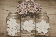 Lace and burlap wedding / by Victoria Schwartz
