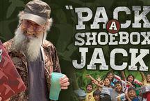 Shoebox Si / Si Robertson, everyone's favorite uncle and reed-maker for Duck Commander duck calls, has teamed up with Operation Christmas Child to get the word out about sharing God's love through the joy of a shoebox gift. / by Operation Christmas Child