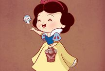 Disney Art.....Sweetness  / These pictures are done with a touch a sweetness to them, some cutie style, others may have a pinch of chibi style, but their total image is still sweetness. / by Linda Imus