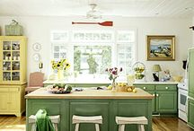 Colorful Cabinetry  / Brilliant colors for bold kitchens / by Midwest Living
