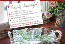"""Pin to Win: Simply Beautiful / In the month of July 2013, follow us on Pinterest. Create a board titled """"Simply Beautiful"""" and pin at least one item from our website, http://beatrizball.com using the #BeatrizBall hashtag. Leave a comment with a link to your Simply Beautiful board on our contest detail Pin from this board below. Winner will receive a $100 Gift Certificate to shop online! / by Beatriz Ball Collection"""