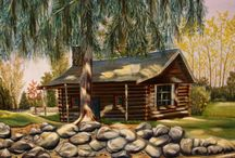 Log Cabin Fever! / Logs and everything to do with logs... / by Sheryl Schroeder