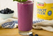 Smoothies / Smoothies are an anytime concoction - breakfast, lunch, dinner, snack, dessert: if you feel like something refreshing, healthy, or just downright delicious, you can bet a smoothie will meet your demands. We make ours with our Greek-Style Yogurt, for extra protein & general awesomeness! / by Cabot Cheese