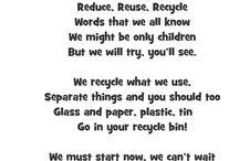 Reduce reuse recycle / by Jody Urbanczyk