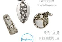 Metal Clay Classes / Silver Metal Clay Classes in our Northboro MA Studio.  / by Heart and Stone Jewelry