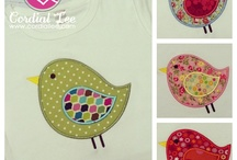 Personalized Applique Shirts / Fully customize one of our adorable applique shirts for your child with your choice of font, thread color, fabric color, or theme. Add your child's name to any design for FREE!!  / by Cordial Lee