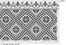Artesanato - Gráficos Monocolor / Gráficos que podem ser para ponto cruz ou para crochê / by Luciane Oliveira