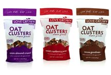 Oat Clusters / Love Grown Foods Oat Clusters are a gluten-free granola full of toasted oat clusters, chunks of dried fruits and nuts. Oat Clusters are subtly sweetened and retail for $1-2 less than other gluten-free granola options. Pair with milk or yogurt for a great breakfast or eat right out of the bag as an afternoon snack, this granola is sure to satisfy.  Non-GMO project verified Certified Gluten-Free Low Sodium Subtly Sweetened Toasted to Perfection / by Love Grown Foods