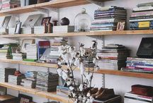 Libraries and shelving. / by Adriana Uzcategui