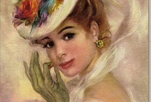 Vintage paintings of women / by Penny Valadez
