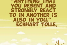 Eckhart Tolle/ Wayne Dyer / by Sharon Potuer