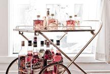 I see bars as altars / Bars and bar carts / by Brenda Wegner