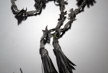 ROULEZ JEUNESSE - jewelry /  jewelry done with BICYCLE : inner tubes - recycled rubber - gomma - chambre à air de velo ..... / by Marianne Gassier