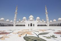 Sheikh Zayed Grand Mosque / This architectural work of art is one the world's largest mosques, with a capacity for an astonishing 40,000 worshippers. It features 80 domes, approximately 1,000 columns, 24 carat gold plated chandeliers and the world's largest hand knotted woven carpet. The main prayer hall is dominated by one of the world's largest chandeliers –10 metres in diameter, 15 metres in height and weighing over nine tonnes. http://visitabudhabi.ae/en/what.to.see/attractions/sheikh.zayed.grand.mosque.aspx / by Visit Abu Dhabi