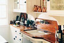 Wood counters / by Linda Merrill Decorative Surroundings