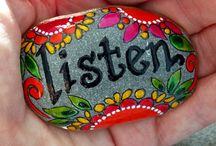 Rock Painting -  Words of Wisdom / by Susan Wheeler