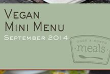 Vegan Mini September 2014 Freezer Menu / by Once A Month Meals