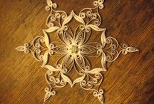 Quilled snowflakes / by Anne Jost