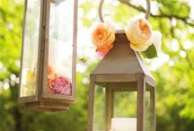 Outside wedding decor ideas / by Mitzi Smith