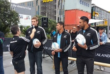 Think Fast with the All Blacks in Auckland & Christchurch / On Friday 7 June, the All Blacks played three games of Think Fast with our contestants at Wynyard Quarter, Auckland and Re:START Mall, Christchurch on 14 June / by Air New Zealand