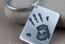 Handprint/Footprint Pendants and Key chains / Preserve handprints and footprints in fine silver / by Metalmorphis Jewelry