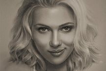 Pencil Drawings of Famous Peeps... / by Karen Gould