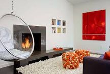 R&B fireplace / by Jan Barrett - Portland interior designer