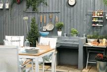 garden kitchen / by Daphne's Diary