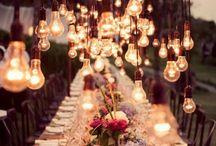Wedding Lighting / Wedding and event lighting inspiration. Fairy lights, string lights, globe lights etc... / by David Tutera for Mon Cheri
