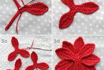 CROCHET FLOWERS / BLOEMEN / Haakpatronen en inspiratie voor gehaakte bloemen / by Monieck D