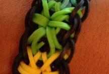 rubber band bracelets / by Donna Hancock