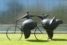 Outdoor sculptures / by Boneywasawarrior