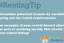 Landlord Renting Tips For Student Housing / Renting tips for landlords who are in the student housing market. Great tips on how to market your rentals to college and university students.  / by Places4Students