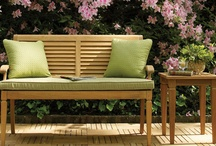 the front porch rocker and the garden bench / fabulous porches and gardens with Summer Classics restful rockers and contemplative benches / by Bew White