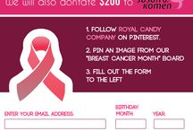 "RoyalCandyCompany.com and Breast Cancer Month / Royal Candy Company's & Breast Cancer Awareness "" Pin it & Win it "" / by Barbara Ryan"