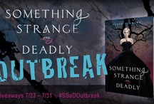 Something Strange & Deadly Outbreak! / A weeklong celebration in honor of Susan Dennard's amazing debut novel, SOMETHING STRANGE AND DEADLY! Send us your pics with the book and we'll share them here (bonus: you'll also be entered in a GIANT/super-awesome giveaway)!  / by Sarah J. Maas
