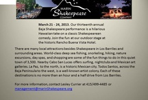 Shakespeare Festival / by Visit Baja California Sur