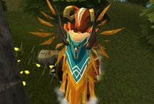 Wings and Capes / You can now wear Wings and Capes at the same time! Here are some of your screenies.  / by RuneScape