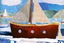 Life on the Ocean Wave / Sailboats and Seascapes, Collage and Whales / by Kate's Creative Space